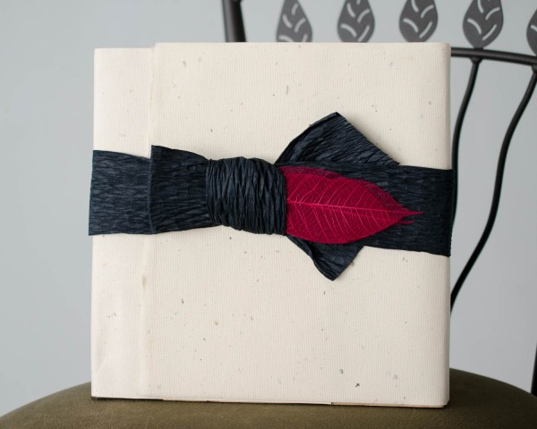Wedding Album packaged with handmade paper