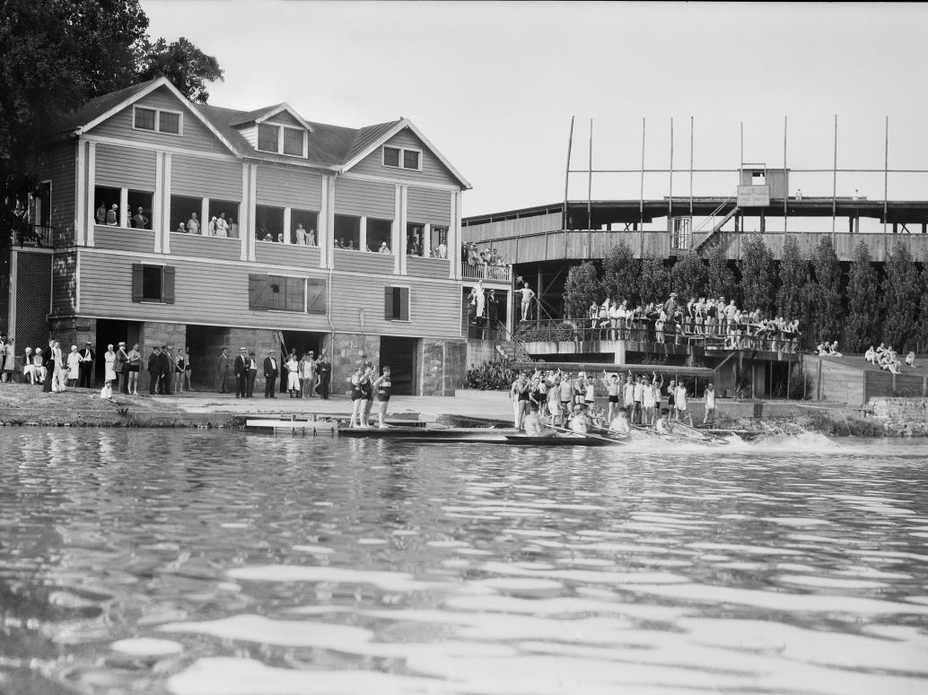 Virginia Boat Club and Tate Field 1920s